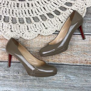 Christian Louboutin   Patent Leather Nude Heels